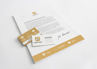 First Step Consulting – strona internetowa, branding